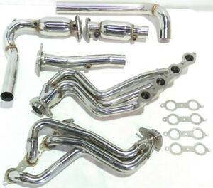 Obx Catted Long Tube Header For 00 05 Chevy Silverado Gm Sierra Hummer H2 6 0l