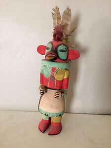 1950s Era Hand Carved Hand Painted Kachina Doll 20 Tall Native American