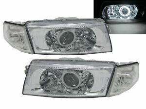 Lancer 1998 2001 Sedan Ccfl Projector R8look Headlight Chrome For Mitsubishi Lhd