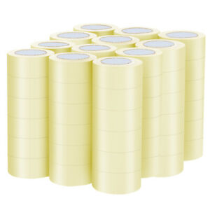 72 Rolls Clear Carton Box Shipping Office Package Tape 1 9 x110 Yards 330 Ft