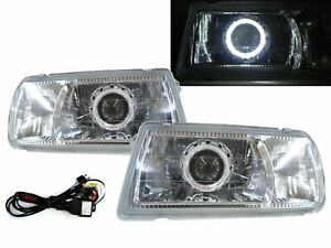 Tracker 1988 1998 Convertible 2d Guide Led Halo Headlight Chrome V2 For Geo Lhd