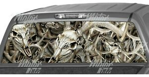 Buck Skull Obliteration Camo Rear Window Graphics Decals Truck Vinyl Wrap
