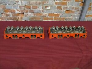 1965 Chevy Gm Small Block 327 Cylinder Heads Rebuilt 3782461 Matching Date