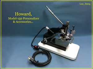 Howard Machine Model 150 Personalizer Accessories Hot Foil Stamping Machine