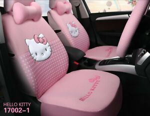 1 Set Luxury Hello Kitty Cute Universal Cartoon Car Seat Cover Cotton Pink 02 1