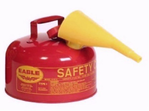 Gasoline Safety Gas Can Container Red Galvanised Steel Jug Fuel Transfer 2 Gal