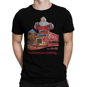 Holidays Are Coming... Coca Cola Christmas Truck Men Festive T-shirt Size S- 5XL