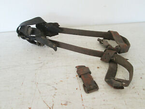 Vintage Bell System M Klein Sons 16 Pole Tree Climbing Gaffs Spikes Spurs
