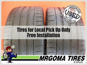 2 Michelin Pilot Super Sport Xl 275 35 20 Used Tires 73 8 Left 102y 2753520