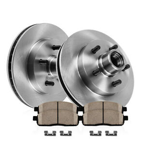 For S 10 Sonoma Jimmy 2wd Front Kit Premium Oe Brake Rotors Ceramic Pads