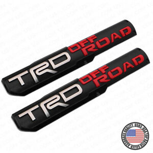 2x Trd Off Road Side Fender Front Door Badge Logo Nameplate Emblem Decoration