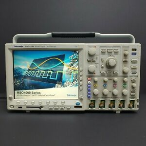 Used Tektronix Mso4104 Mixed Signal Oscilloscope 1ghz 5gs s