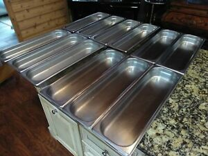 12 Stainless Steel 20 7 8 X 6 3 8 X 2 1 2 Steam Table Insert Food Pans 1006