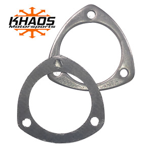 3 Id Flat Flange 3 Hole With Gasket For 3 Exhaust Header Collector Weld Ready