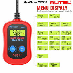 Autel Maxiscan Ms300 Obdii Automotive Diagnostic Tool Code Scanners Check Engine