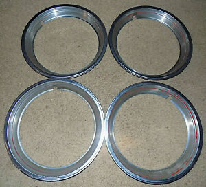 Ford Bronco F150 15 Red Stripe Trim Ring Oem Beauty Ring Factory Used Set Of 4