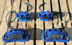 Front And Rear Brake Caliper Set Shoe Carrier Oem Bmw E60 E63 E64 m Great Pads