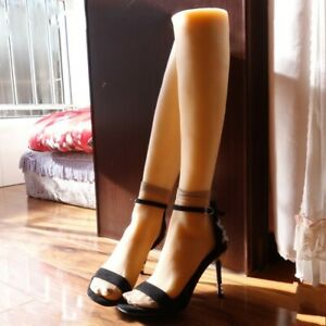 One Pair Soft Silicone Lifesize Female Leg Foot Mannequin Clone Display Us 6 5