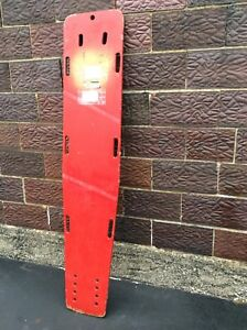 Vintage Red Wood Emergency Rescue Wood Spine Board 16 X 75 Very Good