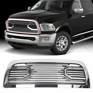 For 10 18 Dodge Ram 2500 3500 Big Horn Chrome Packaged Grille Replacement Shell