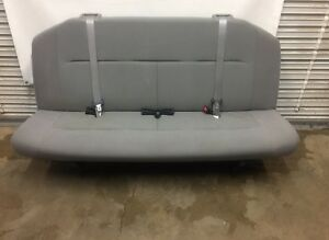 2008 2014 08 14 Ford Econoline Van Bench Seat 4 Person Gray Cloth