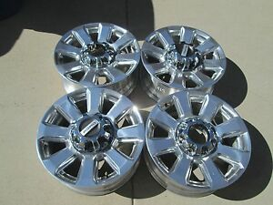 20 Ford F250 F350 Factory Oem Wheels Rims Polished Platinum
