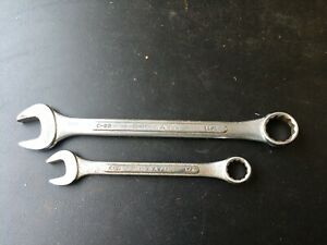 Lot Of 2 Combination Wrenches S K Tools C24 C18 C16 Sae Open End Box End