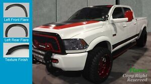 Extended Style Fender Flares 10 19 Dodge Ram 2500 3500 Rough Textured