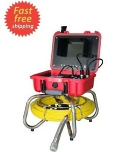 Sewer Drain Cleaner 7 Lcd 512hz Sonde Transmitter 130ft Cable Self Level Camera