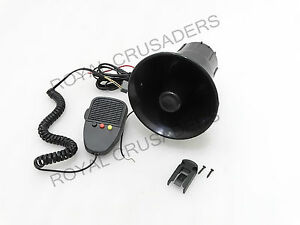 New Universal Car Jeep Bus 3 Tone Electronic 12v Siren Horn g121 code 8679