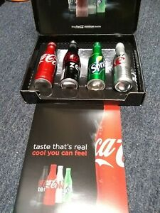 Collectible Coca-Cola Aluminum Bottle Set
