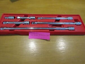Snap on 6 Pc 3 8 Drive Wobble Plus Extension Set With Tray Pak431472