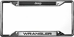 Jeep Wrangler License Plate Frame Chrome