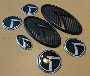 Kia 3 0 Klexus Badges Black Carbon W black K Edge For All Kia Models