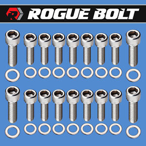 Sbc Aluminum Oil Pan Bolts Stainless Steel Kit Small Block Chevy 283 327 350 400
