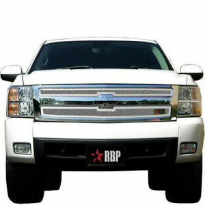 For 2007 2011 Chevy Silverado 1500 Rbp Rx 1 Chrome Stainless Steel Grille Grill