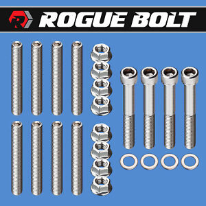 Sbc Exhaust Manifold Stud Kit Bolts ram Horns Stainless Small Block Chevy 350