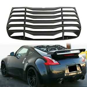 Fits 09 19 Nissan 370z Coupe Ikon Style Rear Window Louver Sun Shade Cover Abs