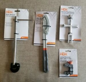 New Hdx Plumbing Tool Lot Of 4 Basin Pop Up Strainer Wrench Tube Cutter