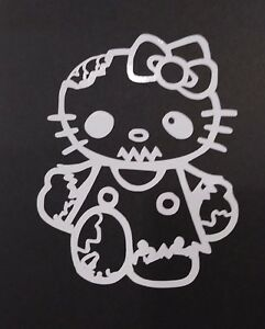 Hello Kitty Zombie Vinyl Decal For Laptop Windows Wall Car Boat