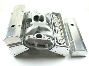 Small Block Chevy 350 383 Aluminum Bare Cylinder Head Package W Intake