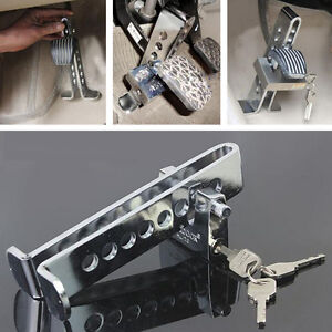Car Chrome 8 Hole Anti theft Device Clutch Brake Stainless Strong Security Lock