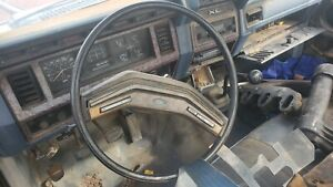 1978 1986 Ford Truck Steering Wheel With Wood Grain Center Horn Pad Cruise