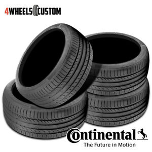 4 X New Continental Contisportcontact 5 245 50 18 100y Performance Summer Tire