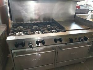 Garland Sunfire 6 Burner 24 Thermostatic Griddle Double Oven Nat Gas