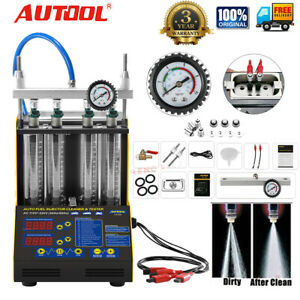Autool Ct150 4 Cylinder Ultrasonic Fuel Injector Tester Cleaner For Car Motor
