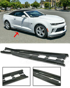 For 16 up Camaro Lt Ls Rs Ss T6 Style Real Carbon Fiber Side Skirts Panel New
