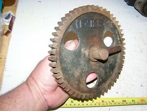 Old Nelson Bros Jumbo Hit Miss Gas Engine Cam Gear Steam Tractor 6 7hp F128 Nice