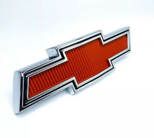 Red Bowtie Grille Emblem For 1967 1968 Chevy Pickup Truck