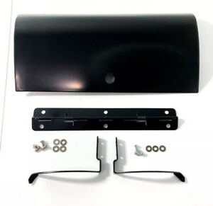 Black Glove Box Door W Hinges For 1955 1959 Second Series Chevy Pickup Truck
